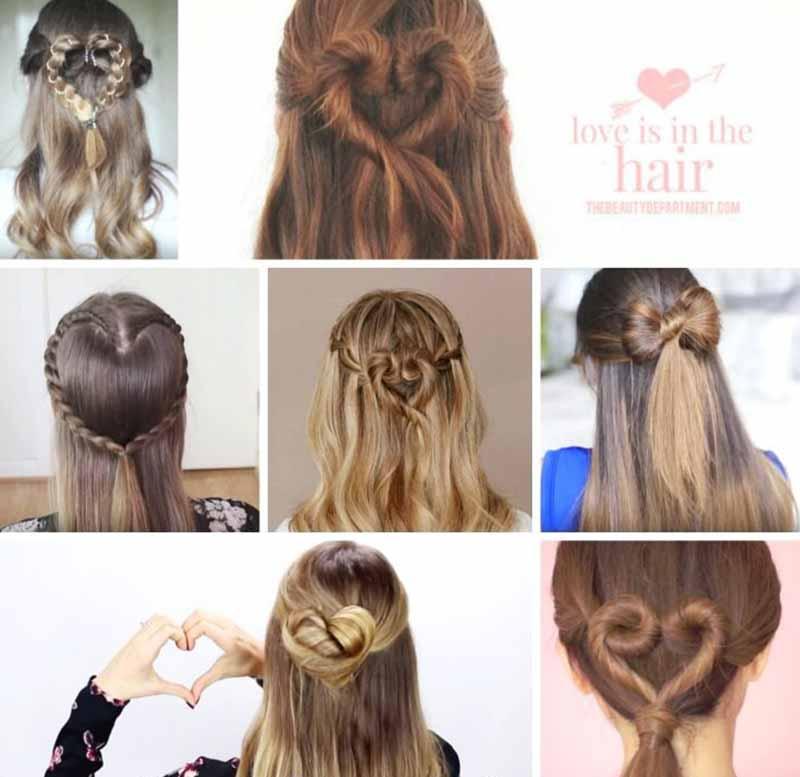 چند مدل موی متفاوت برای موهای بلند برای ولنتاین