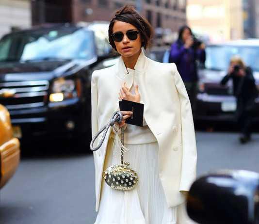 استایل یک خانم با ست لباس سفید