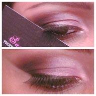 استفاده از کارت ویزیت به عنوان شابلون آرایش چشم