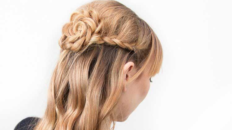 مدل موی بافت گل رز