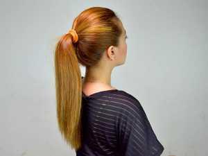 موهای بلند یک خانم