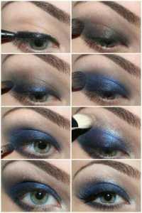 سایه چشم غلیظ آبی