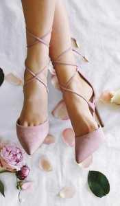 کفش پاشنه بلند صورتی کمرنگ