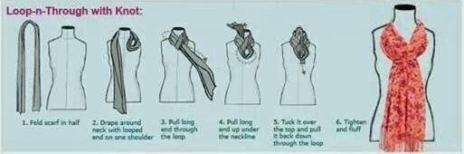 آموزش بستن شال گردن