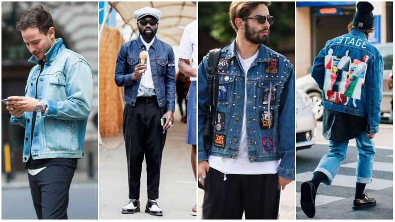 استایل 4 آقا با کت جین مردانه آبی