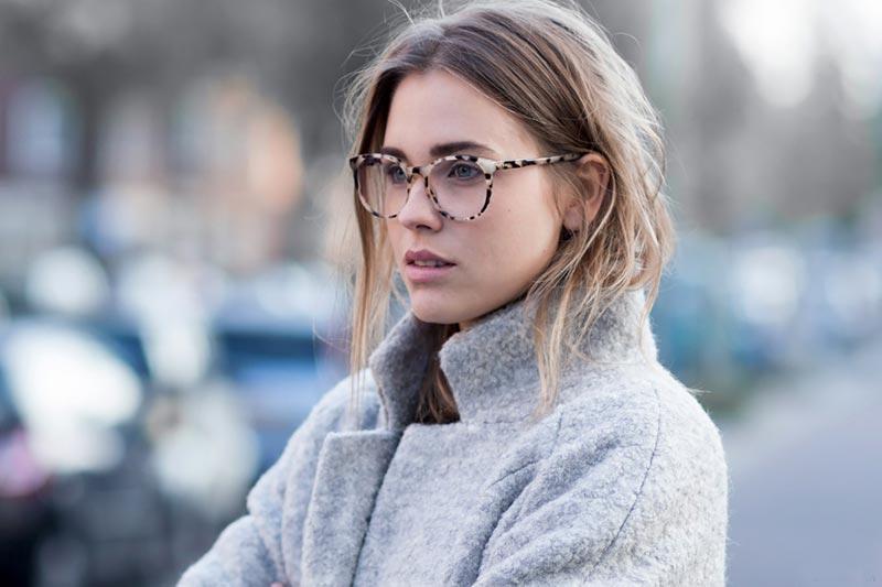استایل یک خانم با عینک