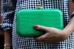 یک کیف زینتی سبز