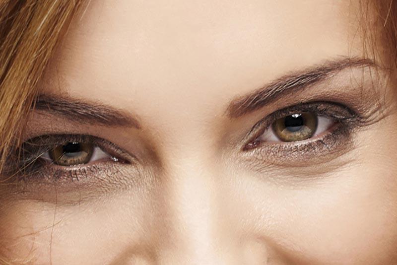 چشمان فندقی یک خانم
