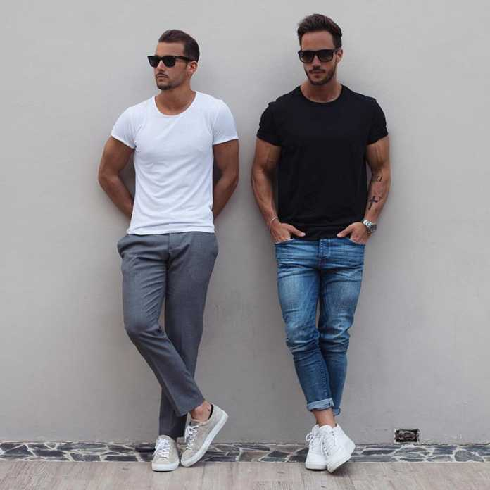 استایل دو آقا با تی شرت مردانه مناسب