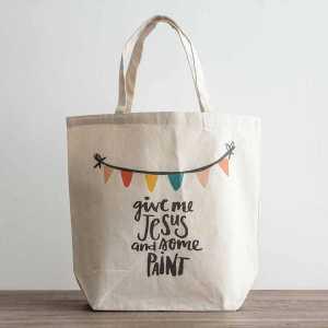 یک کیف باری کرم رنگ