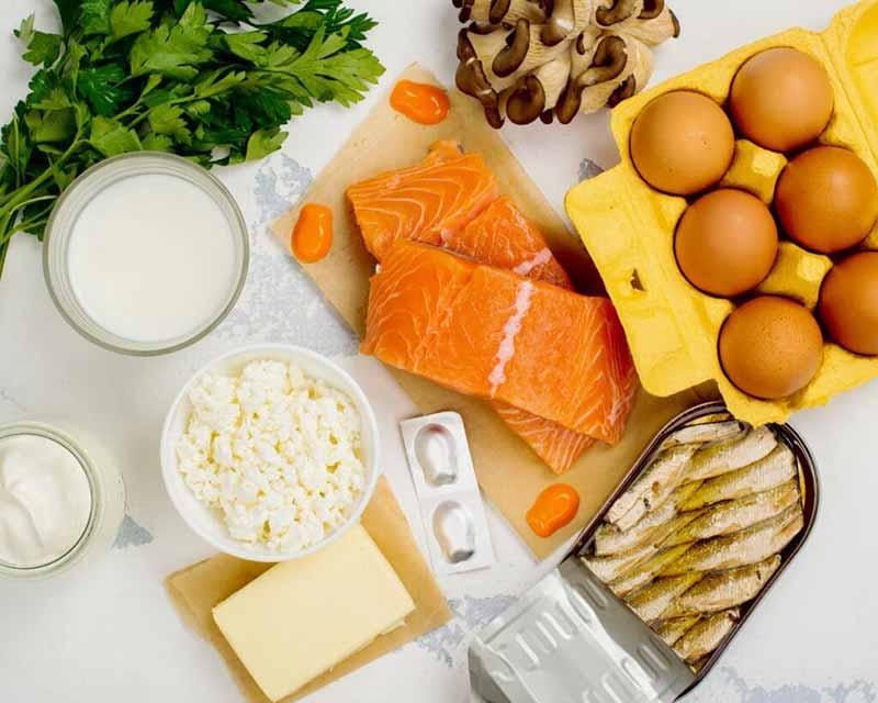 چندین مورد از غذاهای سرشار از ویتامین دی