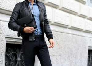 استایل یک آقا با کت چرم مردانه بامر