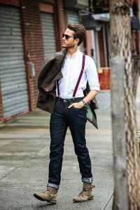 استایل یک آقا با ساس بند مردانه و کت و شلوار