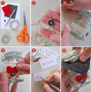 یک ایده برای ولنتاین با شیشه