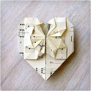 کارت اوریگامی برای ولنتاین