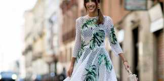 یک خانم با ست لباس بهاره گلدار