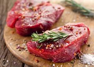 دو تکه گوشت قرمز
