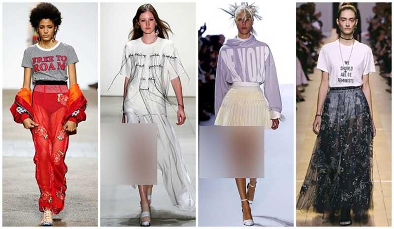 استایل 4 خانم در ران وی با تی شرت های سفید