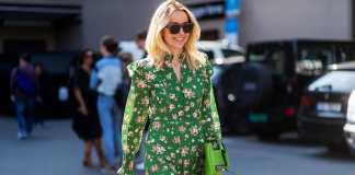 استایل بهاری یک خانم با پیراهن سبز