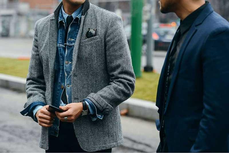 استایل دو آقا با کت اسپرت مردانه