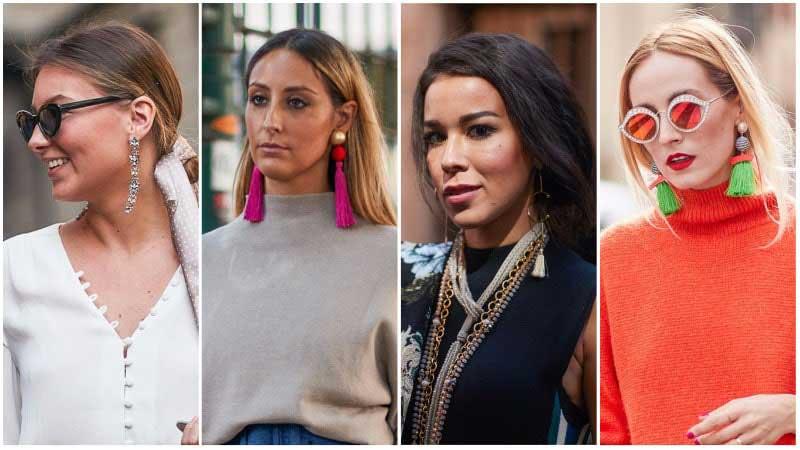 4 خانم با گوشواره های بلند