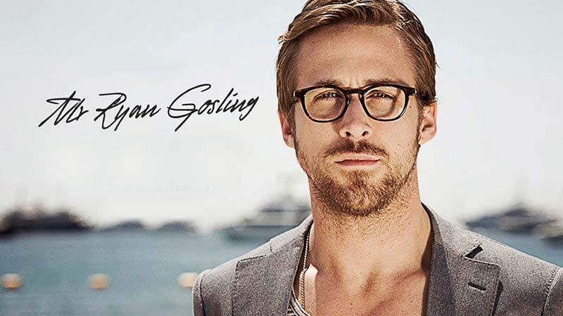 رایان گاسلینگ با عینک