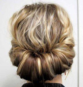 شینیون موی کوتاه