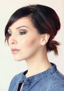 مدل موهای کوتاه یک خانم