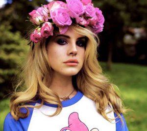 استایل لانا دل ری با گل روی سر