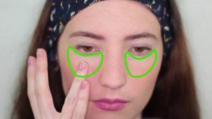 استفاده از کانسیلر در اطراف چشم