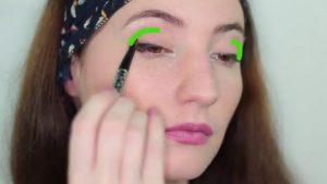 استفاده از سایه در قسمت بیرونی چشم