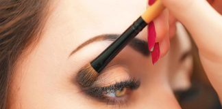آموزش زدن سایه چشم سفید و مشکی