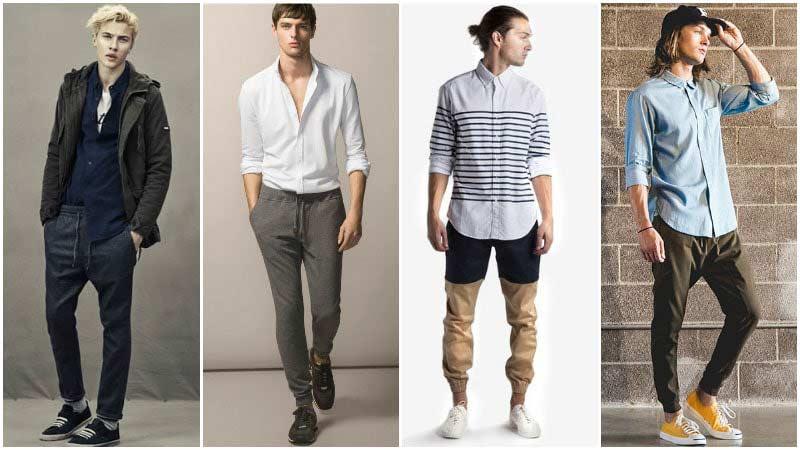 پوشیدن شلوار اسلش با پیراهن مردانه