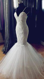 لباس عروس مدل ماهی برای اندام سیبی شکل