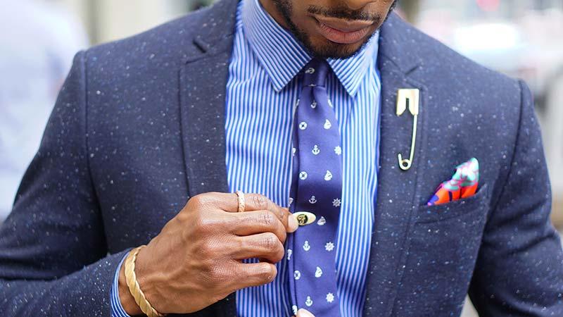 کراوات باریک با کت تک اسپورت
