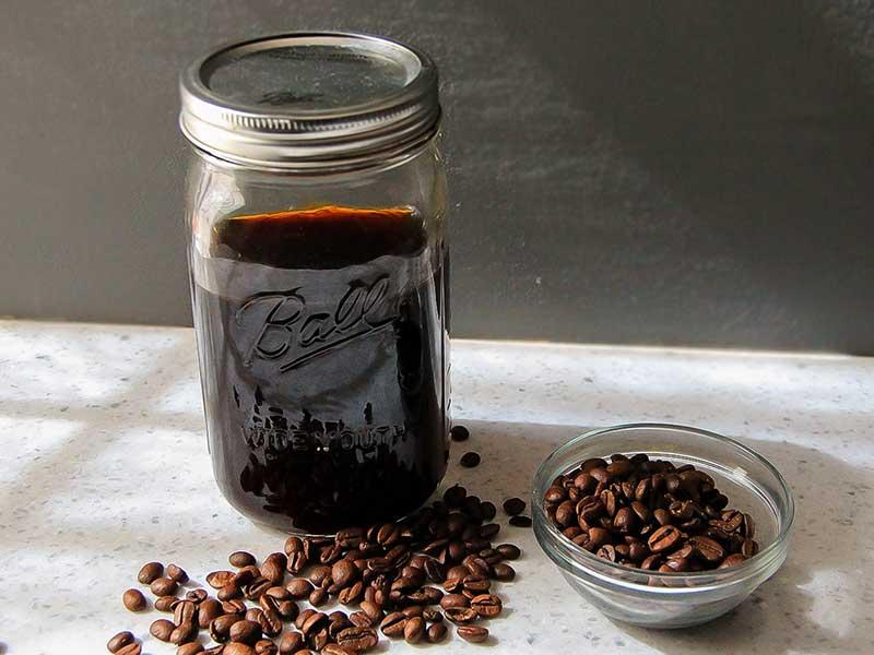 قهوه جوشانده شده با آب