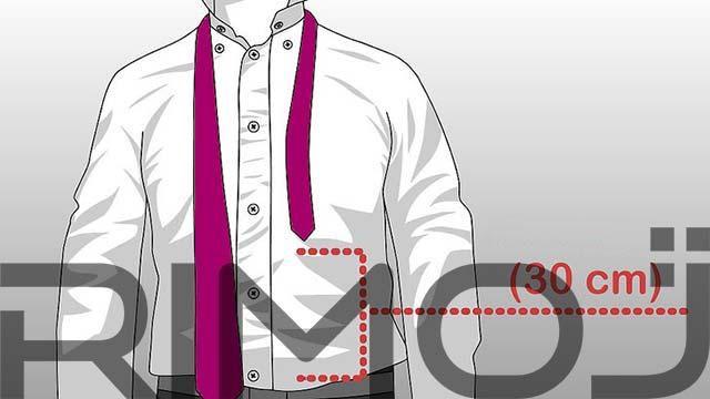 کراوات دو گره مرحله اول