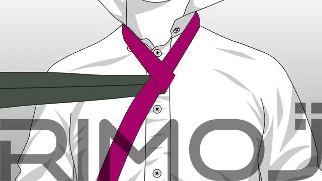 کراوات دو گره مرحله سوم