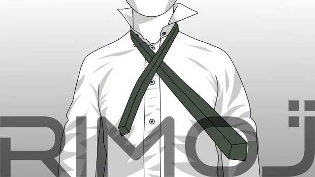 کراوات گره پشت و رو مرحله سوم