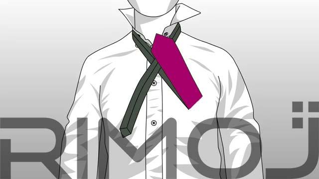 کراوات گره پشت و رو مرحله چهارم