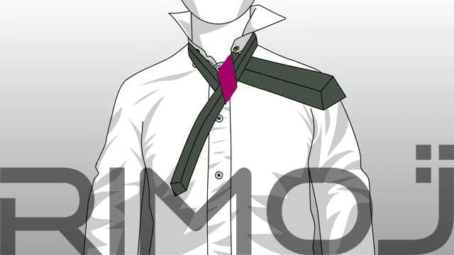 کراوات گره پشت و رو مرحله پنجم