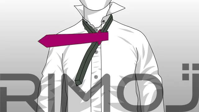 کراوات گره پشت و رو مرحله ششم