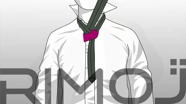 کراوات گره پشت و رو مرحله هفتم