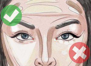 مثلث وارونه زیر چشم
