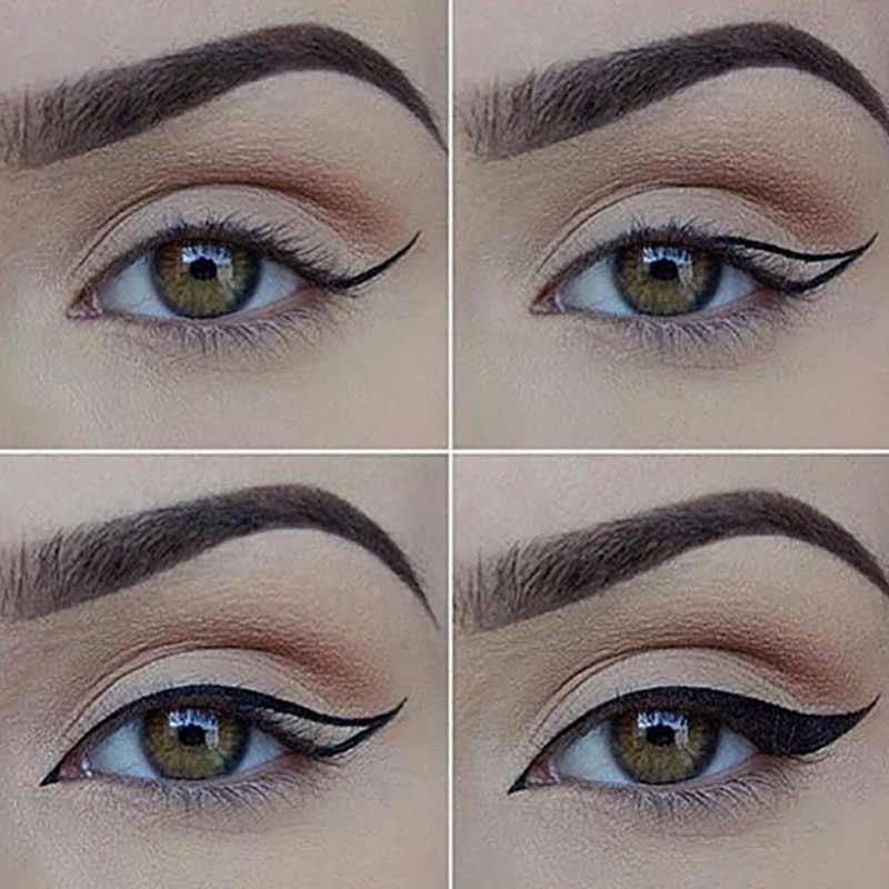 آموزش آرایش چشم گربه ای به صورت مرحله ای