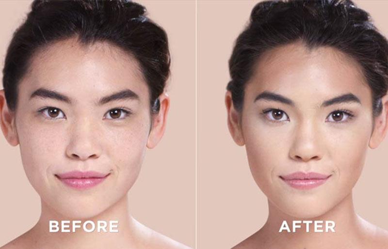 قبل و بعد کانتورینگ صورت گرد