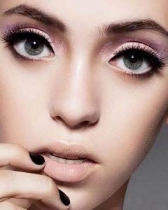 مدل آرایش چشم گرد با خط چشم