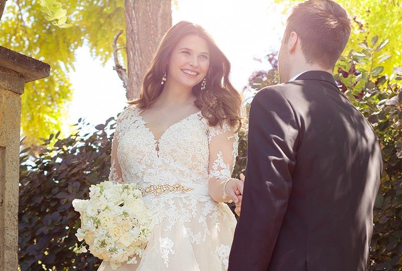 مدل زیبای لباس عروس چاق