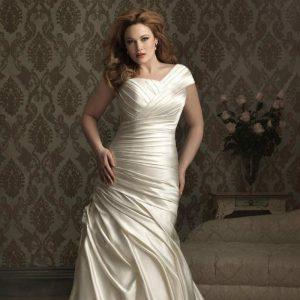 استفاده از لباس عروس چین دار برای ایجاد خطای دید و پوشاندن نواقص بدن