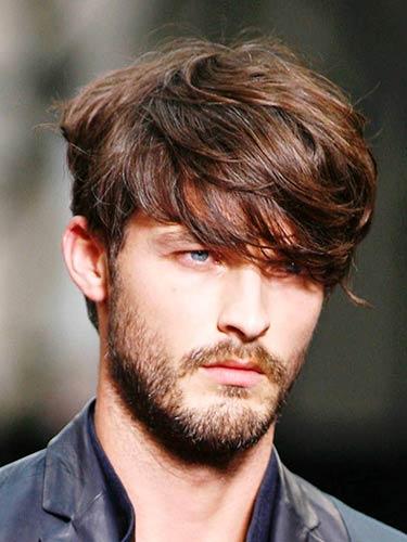 مدل موی مردانه کج روی چشم